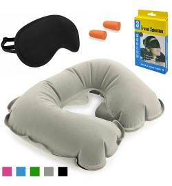 Набір дорожній для сну (маска, беруші, підголівник) 11 * 2 * 15.5см R82824 (200наб)