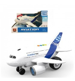 Самолет батар. WY710A (24шт) свет, звук, в откр. коробке 21,3*14,7*13см