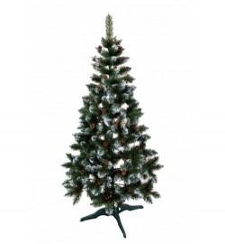 Ялинка ЛІДІЯ ЗЕЛЕНА З БІЛИМИ КІНЧИКАМИ + шишка 1,5м (елка.сосна)
