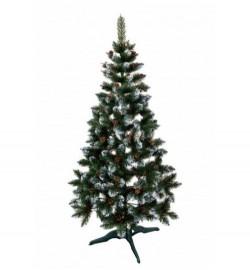 Ялинка ЛІДІЯ ЗЕЛЕНА З БІЛИМИ КІНЧИКАМИ + шишка 1,8м (елка.сосна)