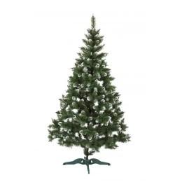 Ялинка ЛІДІЯ ЗЕЛЕНА З БІЛИМИ КІНЧИКАМИ + шишка 2,5м (елка.сосна)