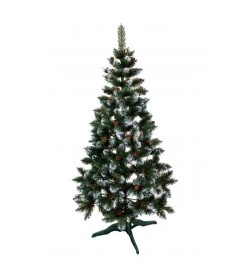 Ялинка Різдвяна (Елітна), зелена + шишка+ калина синя, 150 см. (елка сосна)
