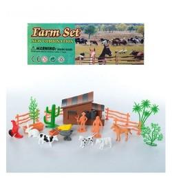 Животные 9648-1 (96шт) домашние, 8шт, от 4см, ферма, в кульке, 21,5-24-4,5см