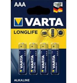 Батарейка Varta Longlife LR03 ААА, 4шт блістер 4/40 ціна за 4шт міні