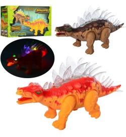 Динозавр 6638-1 (36шт) 35см, свет, ходит, подвиж.челюсти, 2вида, на бат-ке, в кор-ке, 26-16-11см