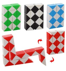 Игра 668-31 (360шт) змейка, головоломка, 4цвета, в кульке, 6-4-1,5см