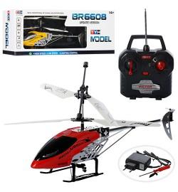 Вертолет BR6608 (12шт) р/у, аккум, гироскоп, 43см, свет,2цвета, в кор-ке,67-22,5-10,5см