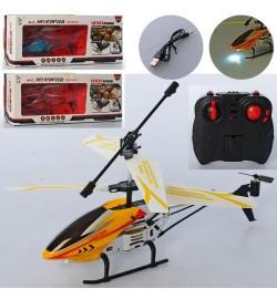 Вертолет HY711-1 (12шт) р/у, аккум, 22см, свет, гироскоп, USBзарядное, 3цвета, в кор-ке, 41-16,5-7с