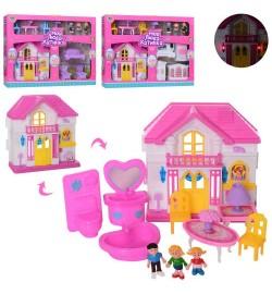 Будиночок WD-925-D-E (24шт) 19-19-6см, меблі, фігурки 3шт, от5см, зв, св, 3в, бат (таб), в кор-ке, 44-33-7,5с