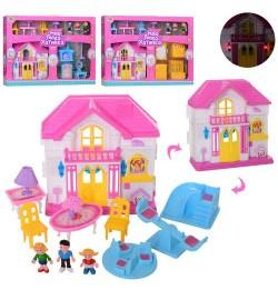 Будиночок WD-925ABC (24шт) 19-19-6см, меблі, фігурки 3шт, от5см, зв, св, 3в, бат (таб), в кор-ке, 44-33-7,5с
