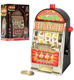 Гра QS888 (36шт) ігровий автомат, 21см, звук, світло, монети, на бат-ке, в кор-ке, 20-25,5-12см