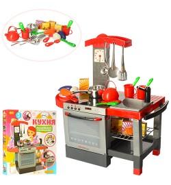 Кухня 011 (6шт) плита, духовка, мойка,60-58,5-31,5см,посуда,муз,свет,на бат-ке, в кор-ке, 60-54-10с