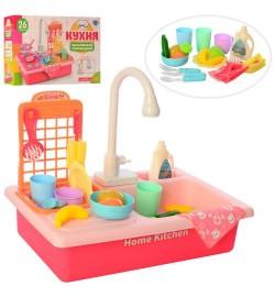 Кухня WD-P42 (18шт) 39,5см,плита, мойка(льется вода),посуда,продукты, 20пр,бат,в кор ,40,5-25-11,5с