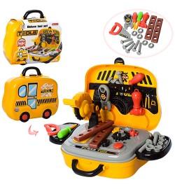 Набор инструментов 008-916A (24шт) пила, отвертки, 27предм, в чемодане(на колесах), 25-21-9см
