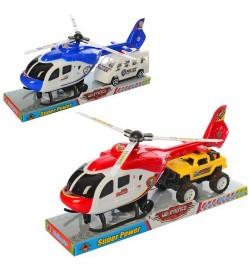 Набор с транспортом 1617-1-2 (72шт) инер-й,вертолет30см,машина13см,2в(1в-полиц) слюде,33,5-15,5-8см