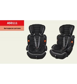 Автокресло AS0111 (1 шт) группа 123, черный, 9-36 кг,5точечный ремень безопасности