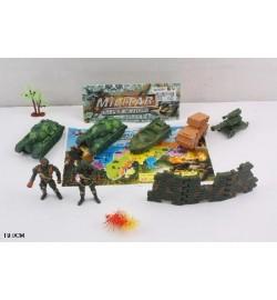 Ігровий набір 6288-B41 (240шт / 2) військова техніка, солдати, аксесуари, в пакеті 19см