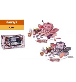 Касовий апарат 888N / P (1963819) (18шт / 2) 2 кольори-мікс в ящику, звук, мікрофон, калькулятор, продукти