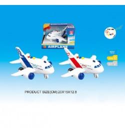 Самолет RJ023(60шт/2)2цвета, батар., свет,звук, р-р игрушки 20*15*12,8см, в кор. 20*15*12.8см