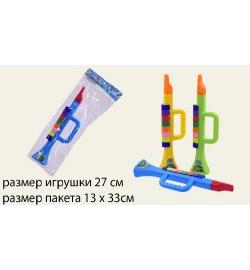 Труба 199B (288шт/2) 3 цвета, 27 см, в пакете 13*33см дудочка