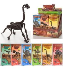 Динозавр 6015-1 (288шт) скелет(разобранный), в кор-ке, 12шт(6вид) в дисплее, 25,5-19-12см