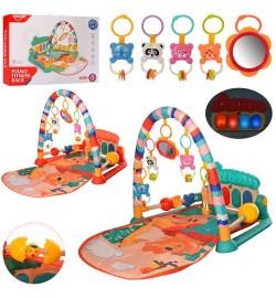 Килимок для немовляти HE0629-30 (12шт) ш60-Д75-в45см, дуга, Піані, муз, св, подв5шт, 2цв, бат, кор, 50-37-8,5см