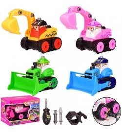 Конструктор з інструментами JD1899-14E / F / G / H (96шт / 2) 4 кольори, в кор. 18 * 10.5 * 13 см, р-р іграшк