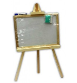 Мольберт для рисования на 3- ноге большая 70*45 2 сторонн,немагн.ольха