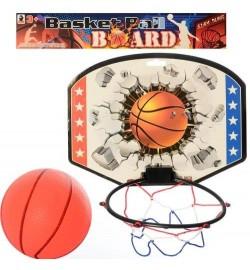 Баскетбольне кільце MR 0126 (96шт) щит 28-21-картон, кольцо17см-пластик, сітка, м'яч, в кульку, 31-28-2с