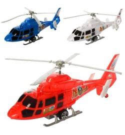 Вертоліт 2488 (144шт) 35см, інер-й, на запуск, 3цвета, в кульку, 35-13,5-7см