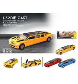 Модель лімузин CZ05 Bumblebee метал.інерц.муз.світ.відкр.3кол.кор.29*10,5*11 /24/