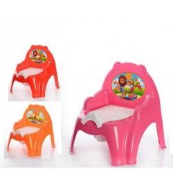Горщик дитячий (крісла) рожевий, червоний, помаранчевий