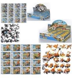 Конструктор 67265-80525-84101  1-16 (512шт) транспорт, от26дет, 3 види, 16шт (16 вид) в дисплеї, 4