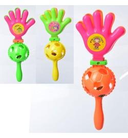 Аксесуари для свята M 6177 (360шт) рука, 21см, тріскачка, мікс кольорів, в кульку, 8-21-5см