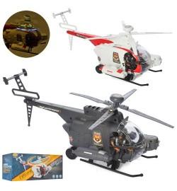 Вертоліт 286-17-19 (48шт) 34см, фігурка 8,5 см, звук, світло, 2 кольори, на батарейці, в коробці, 3