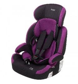 Автокресло Bair Beta Iso-fix 1/2/3 (9-36 кг) DBI1824 черный - фиолетовый