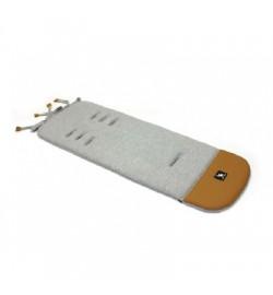 Матрас в коляску Cottonmoose Leather 590/115/107 graphite cotton jersey (графитовый (меланж), латте
