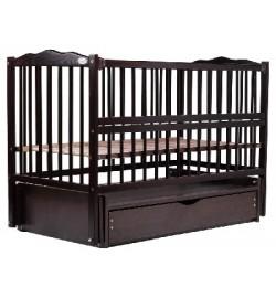 Ліжко Babyroom Веселка маятник, ящик, відкидний бік DVMYO-3 бук венге