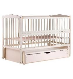 Ліжко Babyroom Веселка маятник, ящик, відкидний бік DVMYO-3 бук слонова кістка