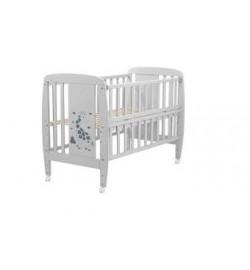 Ліжко Babyroom Жирафик відкидний бік, колеса DJO-01 бук сірий