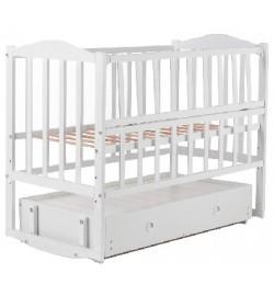 Кровать Babyroom Зайчонок ZL301 маятник, ящик, откидной бок белая