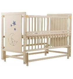 Ліжко Babyroom Ведмедик M-02 маятник, відкидний бік бук слонова кістка