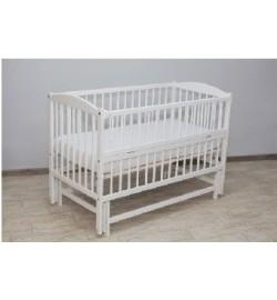 Ліжко Babyroom Собачка відкидний бік, колеса DSO-01 бук білий