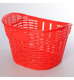 Кошик для велосипеда AS1908 (1шт) для 12-16д, пластик, розмір 26-17-20см, червоний