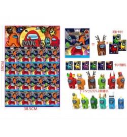 Игрушка DS2263 (960шт / 2) герои 3-3,5 '+ 3 карты в пакете, 12 видов, 16 шт на Листы 59 * 38,5 см