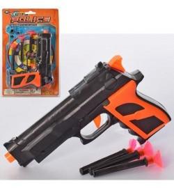 Пістолет FL002-2 (312шт) 15,5 см, кулі-присоски 3шт, мішень, на аркуші, 14-23-3см