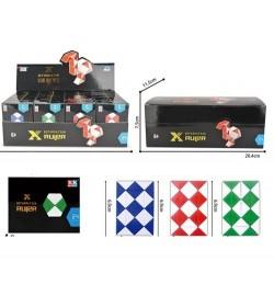 Гра 8001-1 (360шт) головоломка, змійка 7-5-2см в складеному вигляді, 24шт (3 кольори) в дисплеї, 20