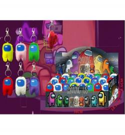 М'яка іграшка DS2299 (1152шт / 4) герої AMONG US 7,5 см, 6 кольорів мікс, 24 шт в дисплей боксі 36
