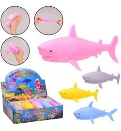 Іграшка антистрес AN2110 (288шт)акула,4 кольори,12шт в дисплей боксі 28*20*8 см, р-р ігр- 21