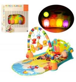 Коврик для младенца N5215 (6 шт) дуга, пианино, подвеска, муз, н, свет, на бат, в кор, 46,5-55